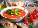 Рецепта Гаспачо със салца сос от авокадо